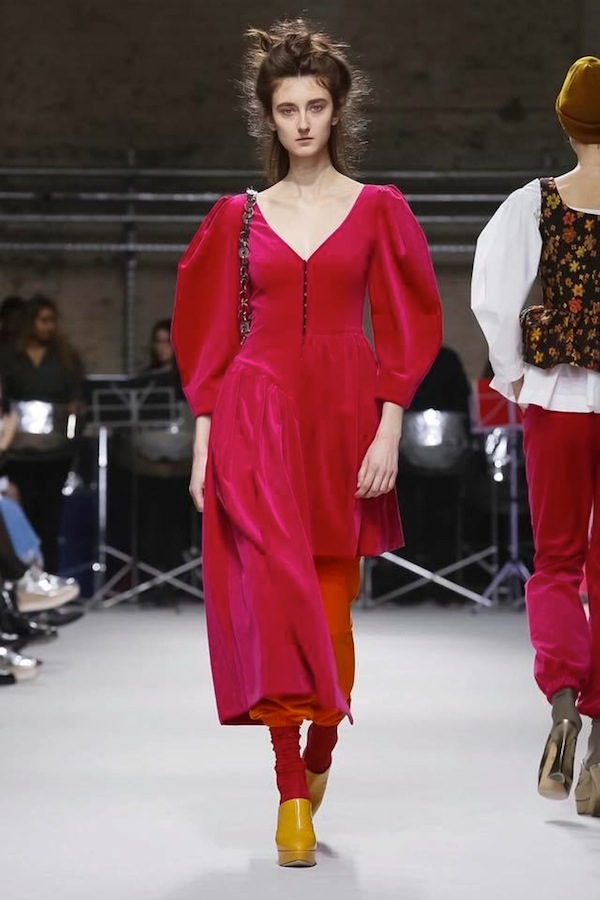 Klementyna for Isa Arfen fashion show FW 2018 London